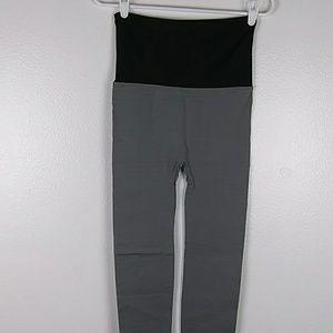 Coco Limon Leggings Foldover Waist Gray S/M